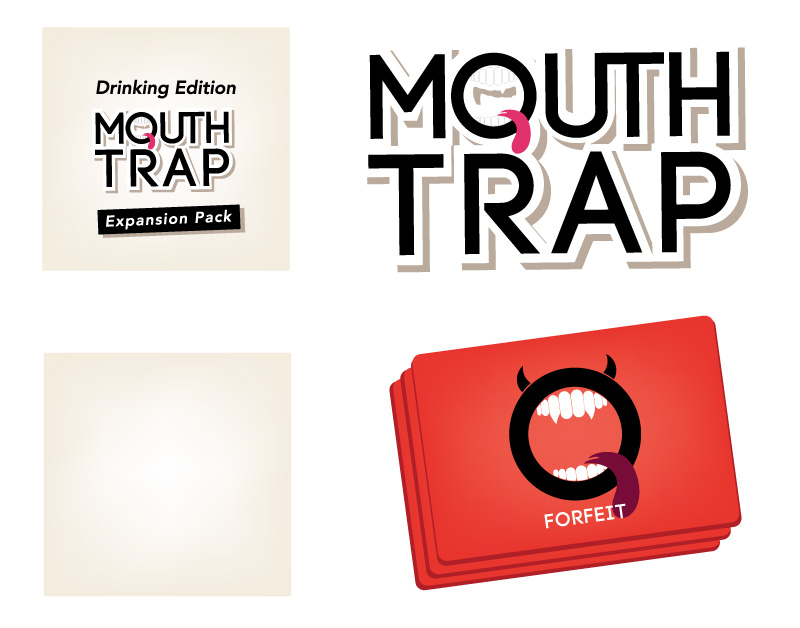 Logo and icons for mouthtrap game