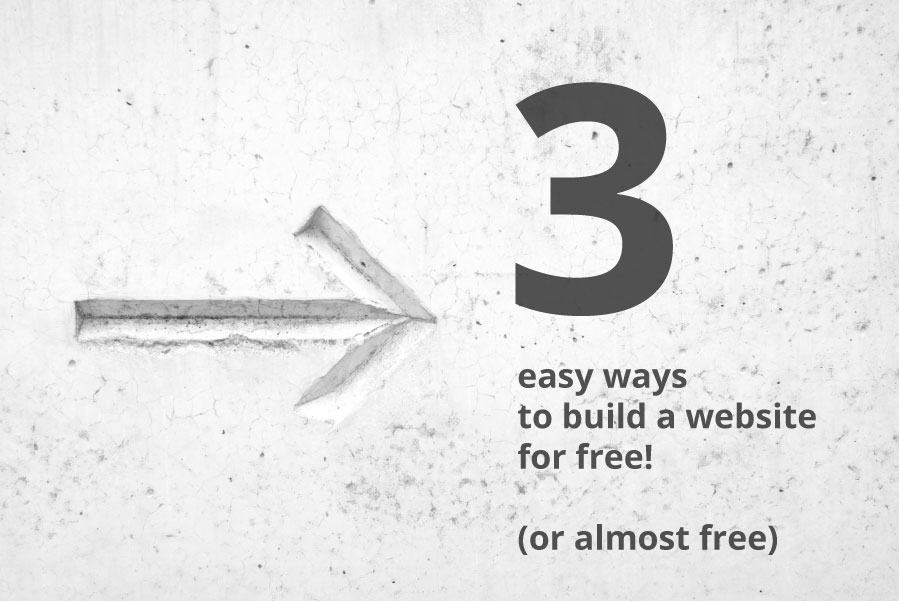 How to build a website for free or almost free image with and arrow point in the direction