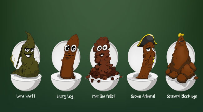 Guess Poo character vector art for crowdfunding page