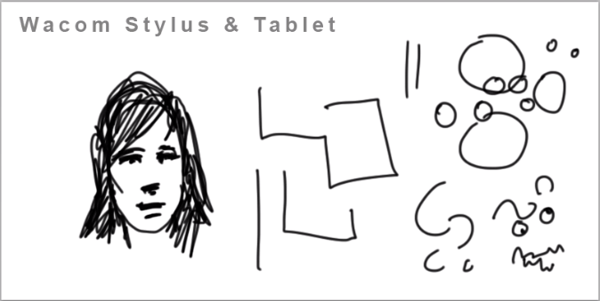 Drawing with Stylus and Tablet example