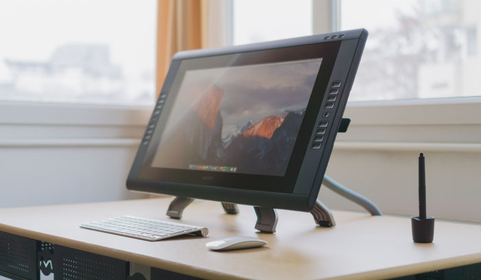 Cintiq display, used to create digital drawings and artwork