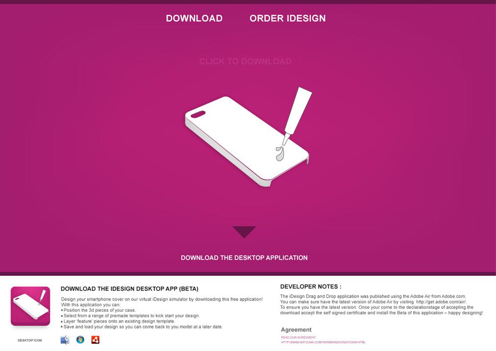 Idesign landing page
