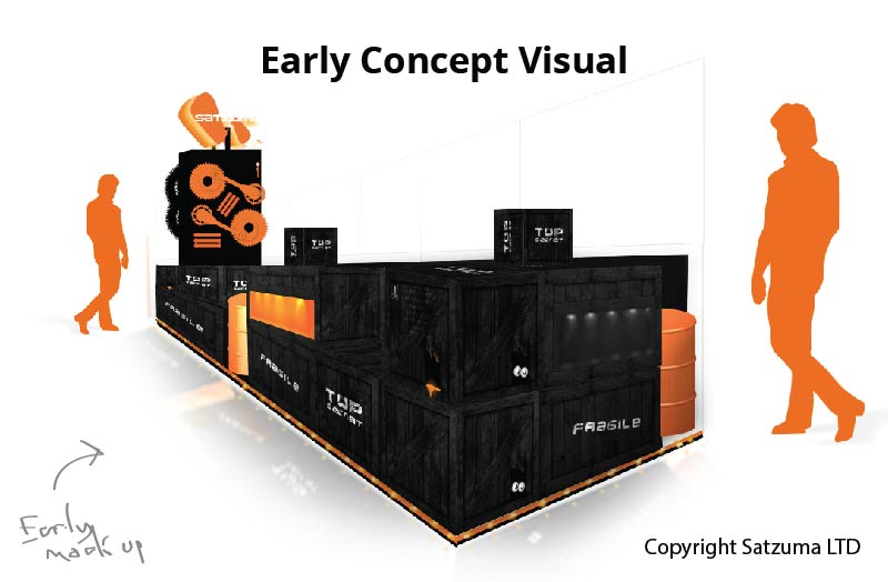 retail kiosk example illustration visualization and mock up.