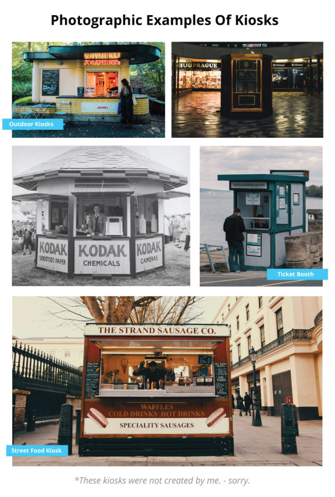 retail kiosk example (examples photographic)